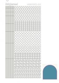 Hobbydots sticker  nr 10- Mirror - Turquoise