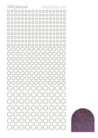 Hobbydots sticker serie 8 - Mirror - Violet