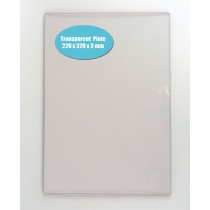 """TPPB002 TRANSPARENT SPARE PLATE FOR """"POWERBOSS"""" 220X320X3MM"""