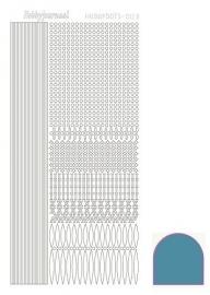Hobbydots sticker nr 3 - Mirror - Turquoise