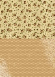 NEVA003 background sheets A4 brown roses