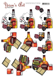 3D Knipvel - Yvon's Art - Cognac and Whiskey  CD11442