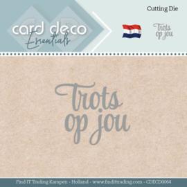 Card Deco Essentials - Dies - Trots op jou  CDECD0064