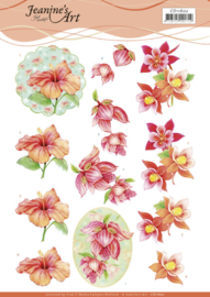 3D Cutting Sheet - Jeanine's Art - Orange Flowers CD11602