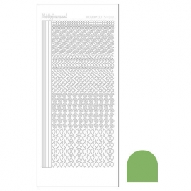Hobbydots sticker - Mirror Lime  nr.19