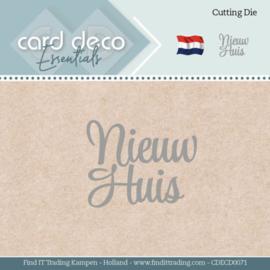 Card Deco Essentials - Dies - Nieuw Huis  CDECD0071