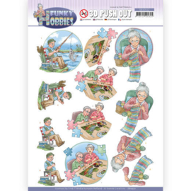 3D cutting sheet - Yvonne Creations - Funky Hobbies - Knitting CD11606