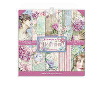Stamperia Hortensia 8x8 Inch Paper Pack (SBBS15)