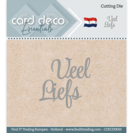 Card Deco Essentials - Cutting Dies - Veel Liefs  CDECD0050