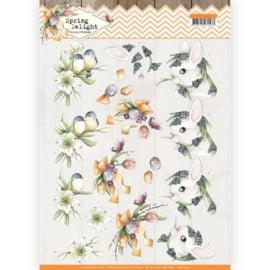 3D cutting sheet - Precious Marieke - Spring Delight - Young Animals   CD11432 - HJ18001