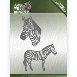 Dies - Amy Design - Wild Animals 2 - Zebra  ADD10178  Formaat ca. 7,6 x 11,0 cm.