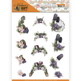 3D Pushout - Precious Marieke - Nature's Gift - Purple Gift  SB10386