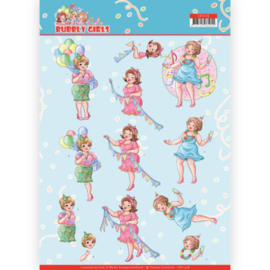 3D cutting sheet - Yvonne Creations - Bubbly Girls - Party - Party Time  CD11478