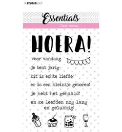 STAMPSL523 - SL Clear Stamp Tekst NL Hoera Essentials nr.523