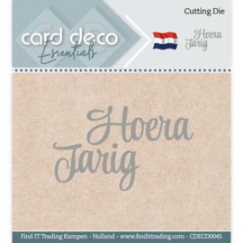 Card Deco Essentials - Cutting Dies - Hoera Jarig  CDECD0045