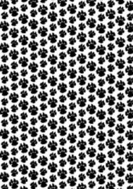 HI A4 Basisvel Hondenpootjes Zwart 3083