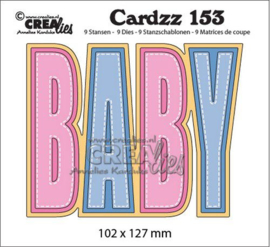 Crealies Cardzz no 153 BABY  CLCZ153 102x127mm