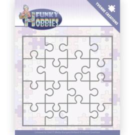 Dies - Yvonne Creations - Funky Hobbies - Puzzle  YCD10226 Formaat ca. 12,5 x 12,5 cm