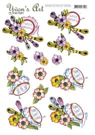 3D cutting sheet - Yvon's Art - Stitching  CD11455