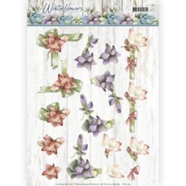 3D knipvel - Precious Marieke - Winter Flowers - Amaryllis   CD11190
