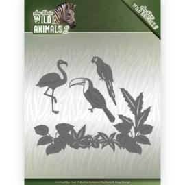 Dies - Amy Design - Wild Animals 2 - Tropical Birds  ADD10174  Formaat ca. 13,0 x 11,0 cm.