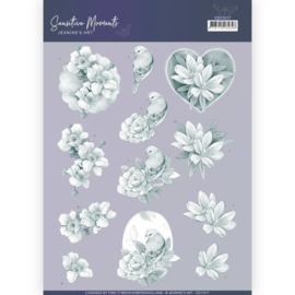 3D Cutting Sheet - Jeanine's Art - Sensitive Moments - Grey Rose  CD11517