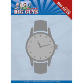 Dies - Yvonne Creations - Big Guys - Watch YCD10206 Formaat ca. 3,4 x 5,7 mm