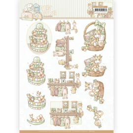 3D cutting sheet - Yvonne Creations - Newborn - Baby Basket  CD11627
