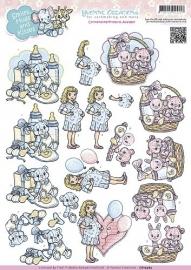 CD10463 3D Knipvel - Yvonne Creations - Smiles, Hugs and Kisses - Babyshower