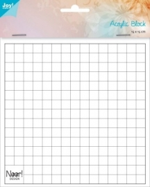6200/0230 Acrylic bloc for clear stamps 1cm dik / 150x150 mm