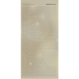 Hobbydots Sticker - Pearl  - 12 Gold   STDP121
