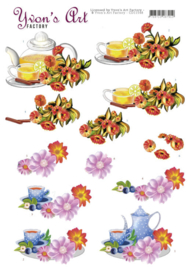 3D Cutting Sheets - Yvon's Art - Teapot  CD11548