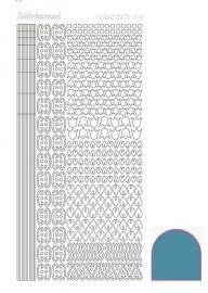 Hobbydots sticker  nr 12- Mirror - Turquoise