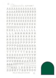 Clippunch Alphabet sticker adhesive green