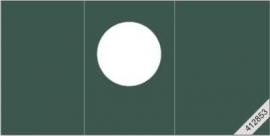 15x31,5cm. Rond, Groen