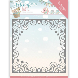 Dies - Yvonne Creations - Welcome Baby - Star Frame   YCD10135