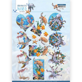 3D Cutting Sheet - Amy Design - Underwater World - Sea Animals  CD11497