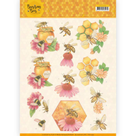 3D knipvel - Jeanines Art - Buzzing Bees - Honey Bees CD11339