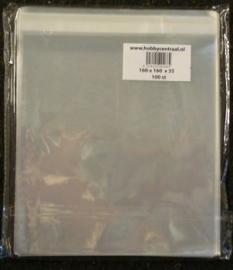 Vierkante Kaartenzakjes met plakstrip 100st 160x160