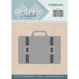 Card Deco Essentials - Mini Dies - Suitcase  CDEMIN10001  Formaat ca. 4,6 x 3,6 cm