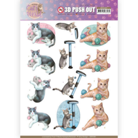 3D Pushout - Amy Design - Cats World - Playing Cats  SB10381
