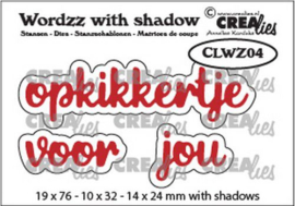 Crealies Wordzz with Shadow opkikkertje voor jou (NL) CLWZ04 19x76mm