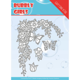 Dies - Yvonne Creations - Bubbly girls- Flower Corner   YCD10167