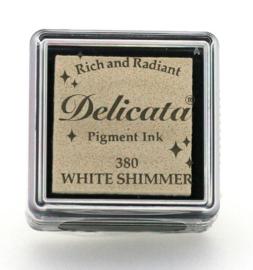 Delicata small Inkpads White Shimmer  DE-SML-380