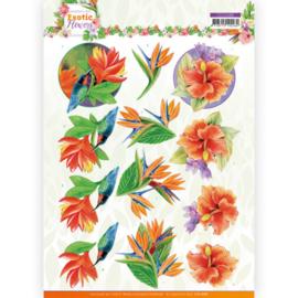 3D cutting sheet - Jeanine's Art - Exotic Flowers - Blue Flowers CD11688