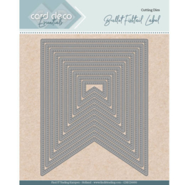 Card Deco Essentials - Nesting Dies - Bullet fishtail label  CDECD0093