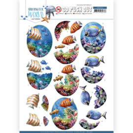 3D Push Out - Amy Design - Underwater World - Saltwater Fish  SB10456