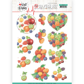 3D Pushout - Jeanine's Art - Well Wishes - Fruits   SB10427