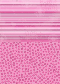 NEVA010 background sheets A4 pink flowers