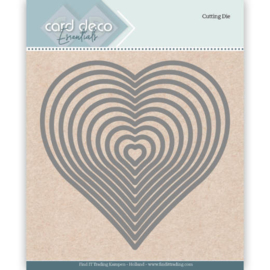 Card Deco Essentials Cutting Dies Heart  CDECD0024  Formaat ca. 12 x 12 cm.
